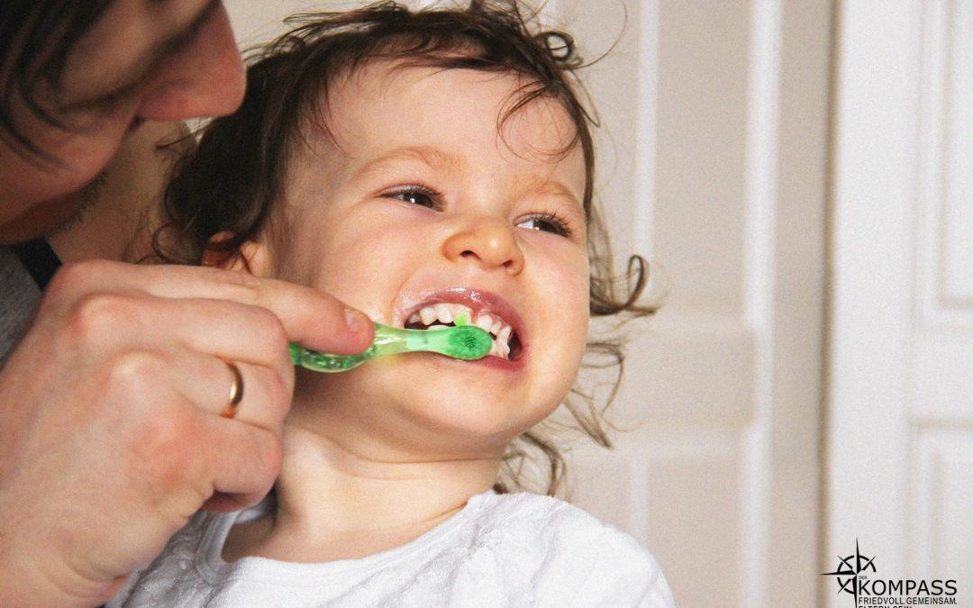 Wie Zähneputzen friedvoll funktionieren kann